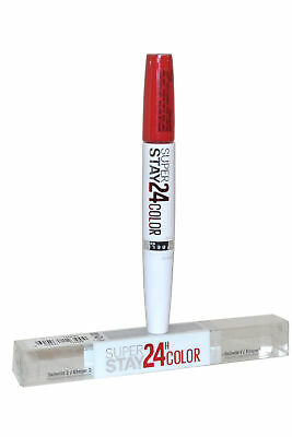 Maybelline Super Stay 24 Hour Wear Lipstick Dual Ended 9ml Hot Coral #475