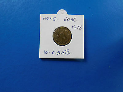 COINS.HONG.KONG.10.cents.1978...#F133