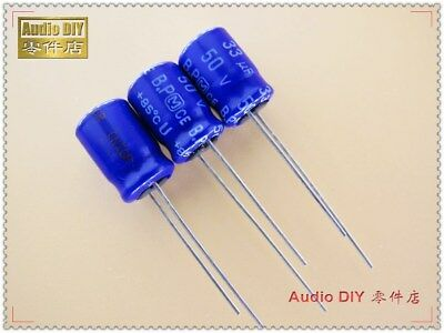 20pcs For PHILIPS BC 036 33uF//50V 5*11.5mm Audio Electrolytic Capacitor 6303