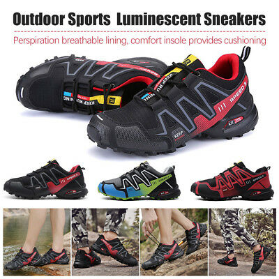 Men's Running Shoes Outdoor Sports Hiking Mountaineering Luminescent Sneakers LI