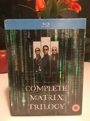 New Sealed Matrix Trilogy Collection (Blu-ray 3-Disc Set) Reloaded Revolutions