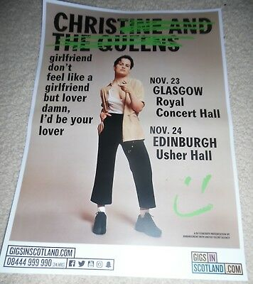 Christine and the Queens - live music show memorabilia concert gig tour poster