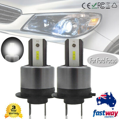 H7 110W LED Car Headlight Conversion Kit DRL Globes Replace Bulbs for Ford Focus