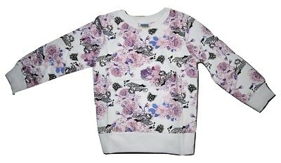 Monster High Girls Kids Cotton Jumper Long Sleeve Shirt - Floral Size 2 3 4 5