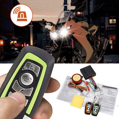 Motorcycle Alarm System Motorbike ABS Anti-theft Security Remote Control ..