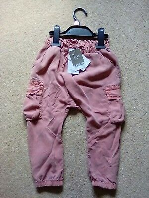 Next girl's light brown trousers NEW size 2-3 years RRP £15