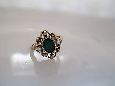 Vintage Signed Avon Versailles Ring In Box. Size 9 (Os31)