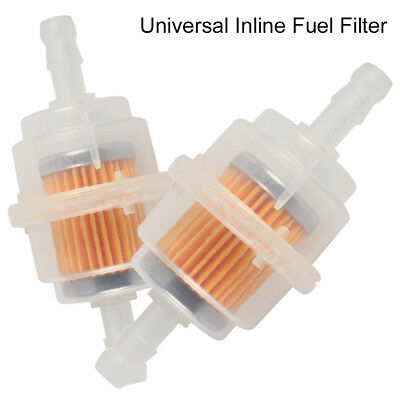 2X Universal Car Parts LARGE Inline Fuel Filter Auto Petrol 6mm 8mm Pipe CA NEW.