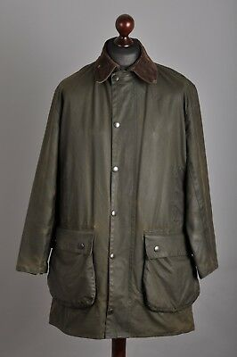Men's BARBOUR Northumbria Waxed Cotton Green Jacket Coat Size C40 102 cm