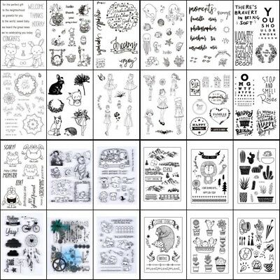 Transparent Clear Silikon Gummi Stamp Diary Scrapbooking Card DIY Briefmarke New