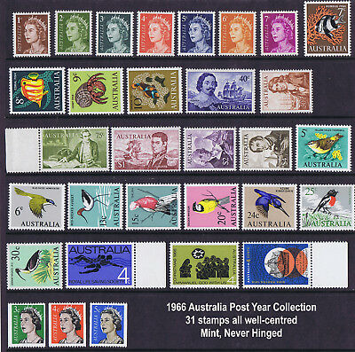 Australian Post Year Collection 1966 (31 stamps) MNH  LIMITED OFFER!