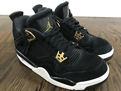 watch 1cead 4db67 ... authentic youth nike air jordan retro 4 royalty black metallic god gs  408452 032 size 6.5