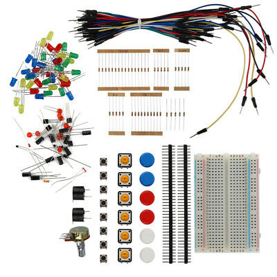 Electronic Starter Kit Resistor Buzzer Breadboard LED Cable Electronic Fans WN