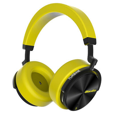 Bluedio T5S Bluetooth Headphones Wireless Noise Cancelling Stereo Headset Yellow