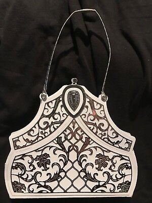 v/lg MILAN handbag SHAPED CARD DIE 441162 -  TATTERED LACE Stephanie Weightman