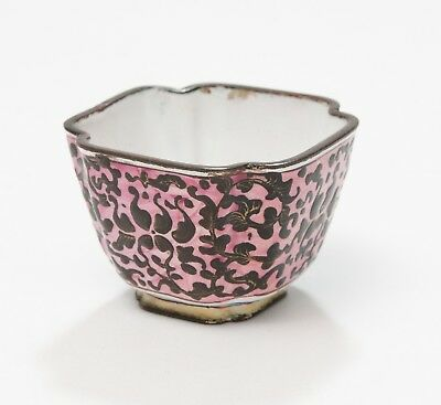 Antique Chinese Canton Region Enamel Small Cup with Pink Ground