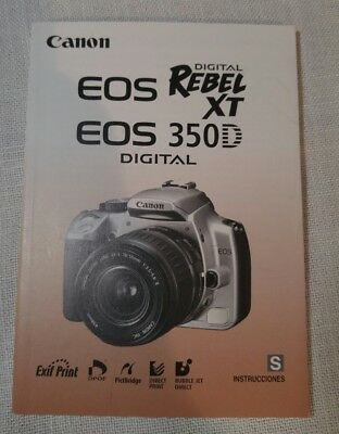 canon eos rebel xt 350d instruction manual 8 00 picclick rh picclick com canon digital rebel xt instruction manual canon eos rebel xti user manual