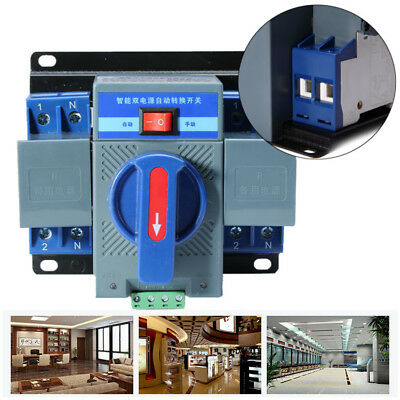 63A 2P 50HZ/60HZ Dual Power Automatic 150137118mm Switch Transfer [From US]