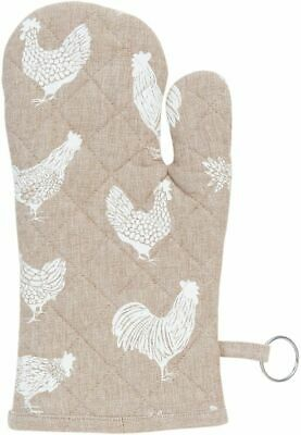 COUNTRY SIDE CHICKEN Ofenhandschuh 16x30 cm in natur
