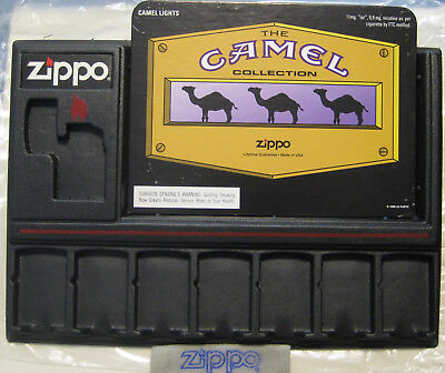 ZIPPO Counter DISPLAY BOARD Hold 8 Your CAMEL Lighters MINT Never used