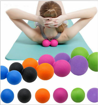 Double Lacrosse Ball Mobility Massage Ball Myofascial Trigger Point Gym Therapy