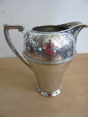"Antique victorian Wm Rogers ""Rosalie"" #4517 fancy silver plate handled pitcher"