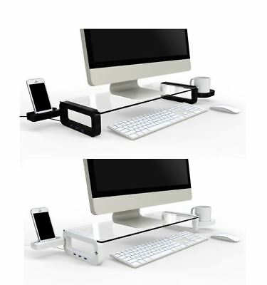iTREND Smart Monitor Stand with USB2.0 or USB3.0 Hubs Desktop Storage organizer