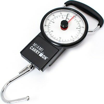 Miami CarryOn Mechanical Luggage Scale / Fishing Scale, Tape Measure 75 Lbs/34KG