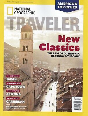 National Geographic Traveler February March 2018 Classics Brand New Free Ship