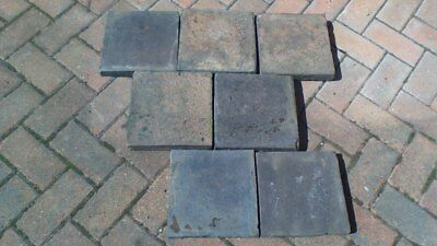 Reclaimed 9 Inch X Staffordshire Blue Black 9x9 Quarry Tiles