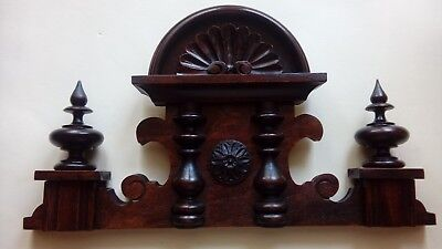CROWN WOODEN TO THE CLOCK GERMAN VIENNA LENZKIRCH REGULATOR BECKER nr.54