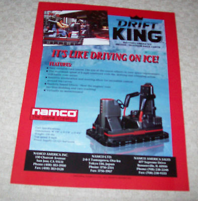 Namco Drift King Race Carts Game Flyer Brochure 1994