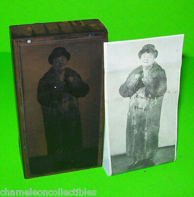 VINTAGE PLATE PRINT BLOCK INK STAMP w/ Interesting Old Image GREAT PIC Unkown?