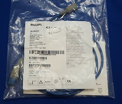 Philips M1941A Sp02 Extension Cable 8 Pin 6ft
