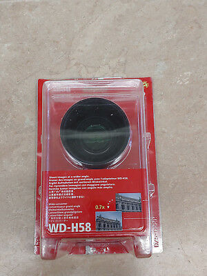 Canon Wide Converter WD-H58 0.7X Lens w/Pouch In Original Packaging