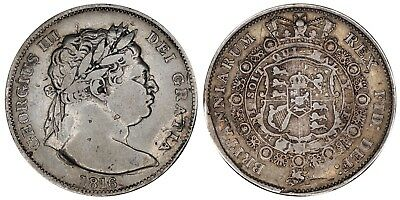 1816 George III Halfcrown Great Britain silver coin