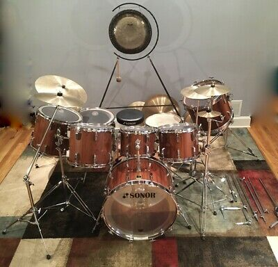 1975 SONOR Phonic 8 piece drum set w/stands, cases, cymbals & more. Don't Miss!