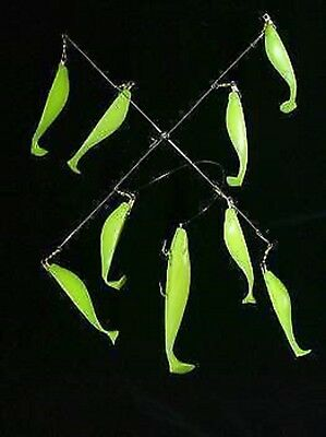 "20"" Clear Green Chartreuse Umbrella Rig/ Striper Fishing Lures/"