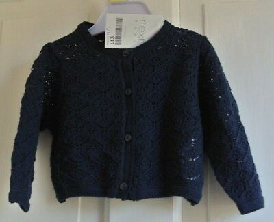 New Next Lacy cardigan Navy 1-3 months