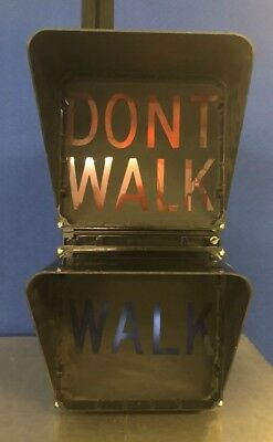 "8"" Black Aluminum incandescent Eagle Walk/Don't Walk Pedestrian Signal"