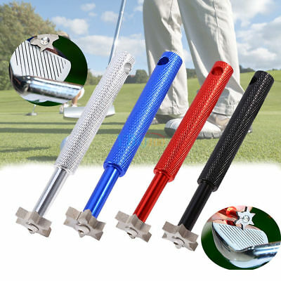 Iron Wedge Golf Club Groove Sharpener Tool w/ 6 Cutters for Optimal Backspin