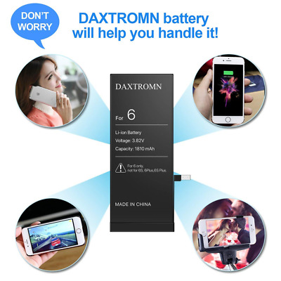 DAXTROMN iPhone 6 Battery Replacement- Repair Kit with Tools, Adhesive Strips -