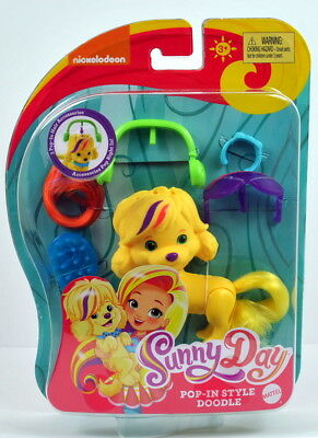 NEW Nickelodeon Sunny Day Pop In Style Doodle Dog Brushable Tail