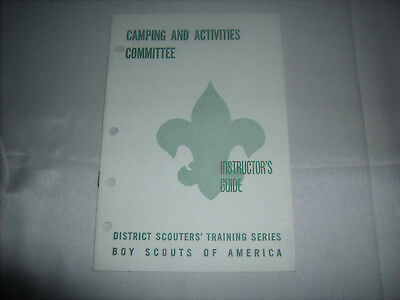 Vintage BSA Boy Scouts of America Instructor's Guide Camping and Activities 1965