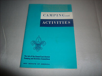 Vintage BSA Boy Scouts of America CAMPING and ACTIVITIES BOOK Copyright 1969