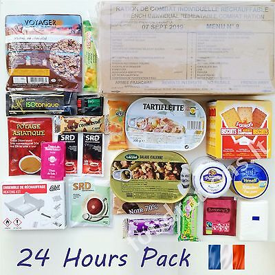 MRE RCIR French Military Food Ration 24H MENU Combat Daily Pack Survival 2021