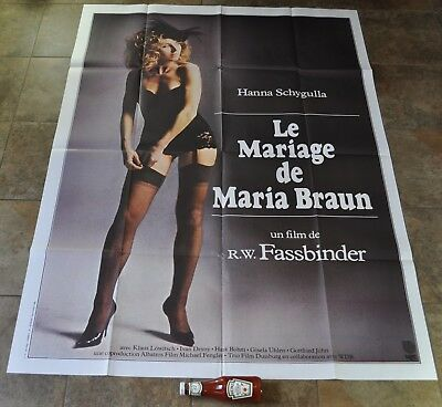 The MARRIAGE OF MARIA BRAUN Movie Poster - ORIGINAL Massive - RARE - FASSBINDER