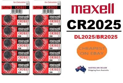 Genuine Maxell CR2025 3V Lithium Coin Button Batteries Power Cell CR 2025