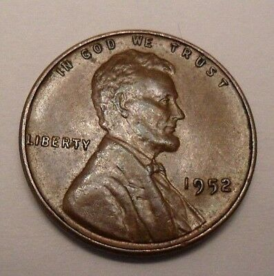 1952 P Lincoln Wheat Cent / Penny Coin  *FINE OR BETTER*   **FREE SHIPPING**