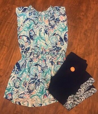 Gymboree Girls Blue Butterfly Outfit Tunic With Capri Pants Sz 5 NWT